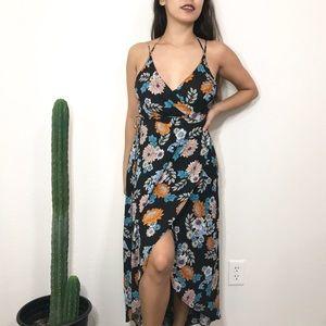 • ASTR Floral Wrap Dress •